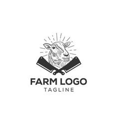 sheep or lamb logo icon design vector image