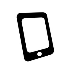 Simple black mobile phone smart phone flat icon vector