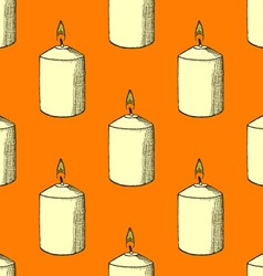 Sketch candle vector image