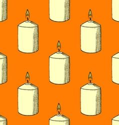 Sketch candle vector