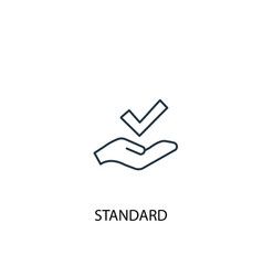 standard concept line icon simple element vector image