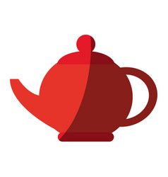 Teapot kitchen utensil icon vector