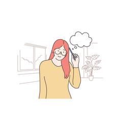 thinking idea dream problem search concept vector image