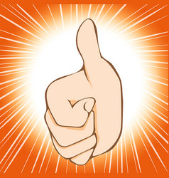 thumb up abstract background vector image