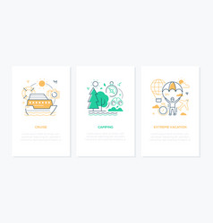 traveling and vacation concept - line design style vector image