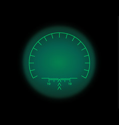 View through optical sight night vision style vector