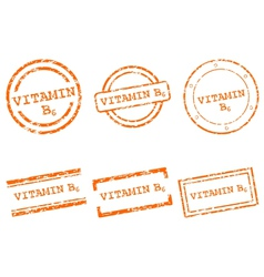 Vitamin B6 stamps vector image vector image