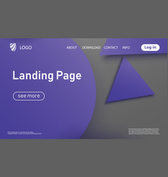 website landing page material design vector image