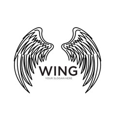wing logo designs simple modern vector image