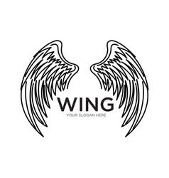 Wing logo designs simple modern vector