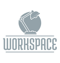 Workspace logo simple gray style vector