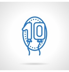 Anniversary balloons icon blue line style vector image vector image