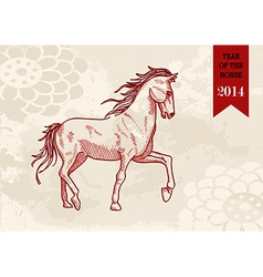 Chinese new year Horse hand drawn file vector image