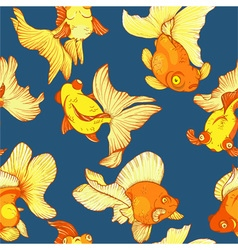 goldfish seamless pattern vector image