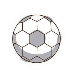 monochrome silhouette soccer ball element sport vector image vector image
