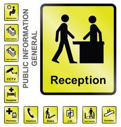 public information signs vector image vector image