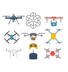 Quadcopter set vector image vector image