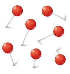 Red map pin markers collection vector image