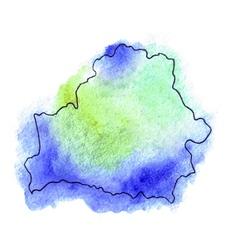 Belarus watercolor map vector image vector image