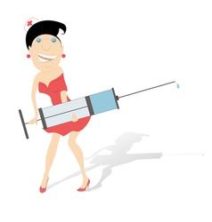 Comic nurse vector image