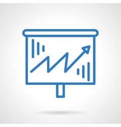 Growth chart icon blue simple line style vector image