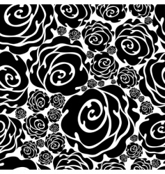 grunge rose pattern vector image