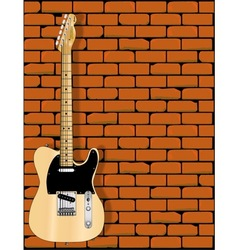 Guitar Wall vector image
