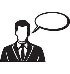 Men with a Speech Bubble Icon vector image