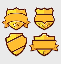 Set of gold retro badges vector image vector image