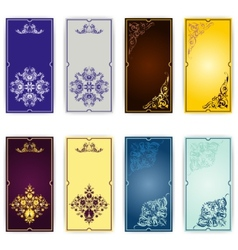 Set of template for greeting card invitation vector image