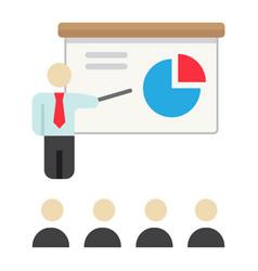Training presentation flat icon business vector