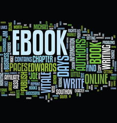 Your own ebook in days text background word cloud vector