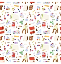 Art stickers seamless pattern vector image vector image