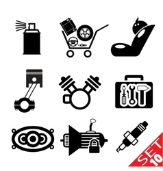 car part icon set 10 vector image
