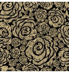 grunge rose pattern vector image vector image