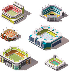 isometric stadiums set vector image vector image
