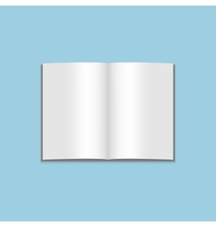 Mockup of blank open Magazine vector image