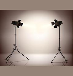 Standing Spotlights Background vector image vector image