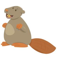 Cartoon beaver animal character vector