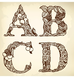 Set of letters ABCD vector image