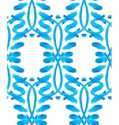 Watercolor Gzhel pattern vector image vector image