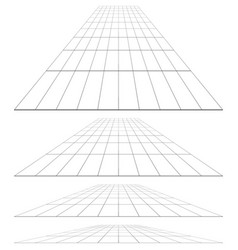 3d grid in perspective vector
