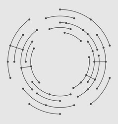 Abstract circle lines vector