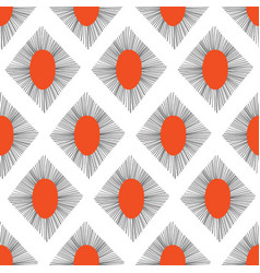 Abstract rhombus shapes seamless pattern vector