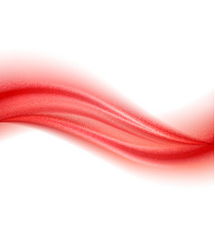 abstract shiny color red wave design element vector image