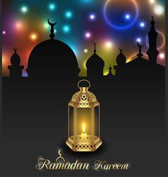 arabic lamp for ramadan kareem architecture vector image