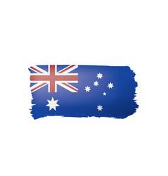 australia flag on a white vector image