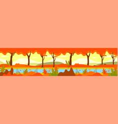 autumn forest autumnal nature landscape yellow vector image
