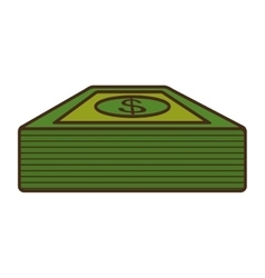Bills dollars money isolated icon vector