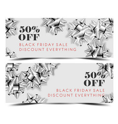 black friday sale discount promo offer banner or vector image
